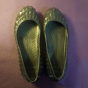 CROCS-Super Molded Pyramid Slip On Ballet  Flats 8